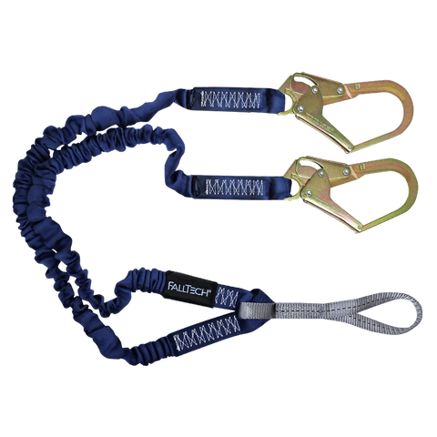 FallTech 8240Y3L 4½' to 6' ElasTech® Energy Absorbing Lanyard, Double-leg with Choke-loop (each)