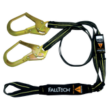 FallTech 8242Y3L 6' Arc Flash Energy Absorbing Lanyard, Double-leg with Choke-loop with Steel Rebar Hooks (each)
