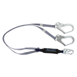 FallTech 8260733FT 3' ViewPack® Energy Absorbing Lanyard, Double-leg with Steel Connectors (each)