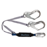 FallTech 8260734A 4' ViewPack® Energy Absorbing Lanyard, Double-leg with Aluminum Connectors (each)