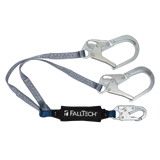FallTech 8260734 4' ViewPack® Energy Absorbing Lanyard, Double-leg with Steel Connectors (each)