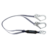 FallTech 826073 6' ViewPack® Energy Absorbing Lanyard, Double-leg with Steel Connectors (each)