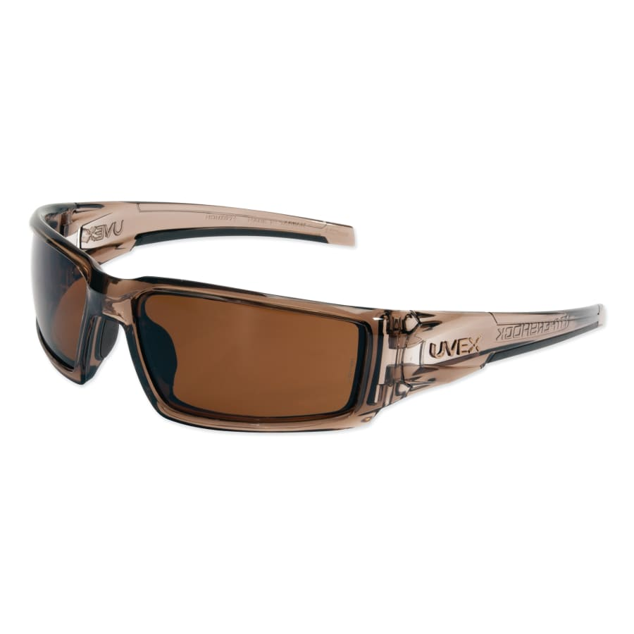 Honeywell Uvex Hypershock Safety Eyewear, Espresso Polarized Lens, HC, Smoke Brown Frame (each)
