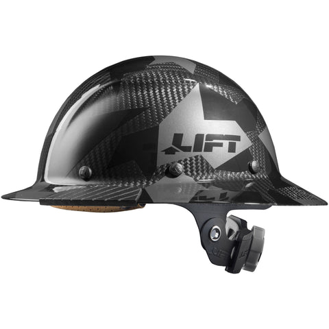 Lift DAX Carbon Fiber Camo Full Brim Hard Hat (each)