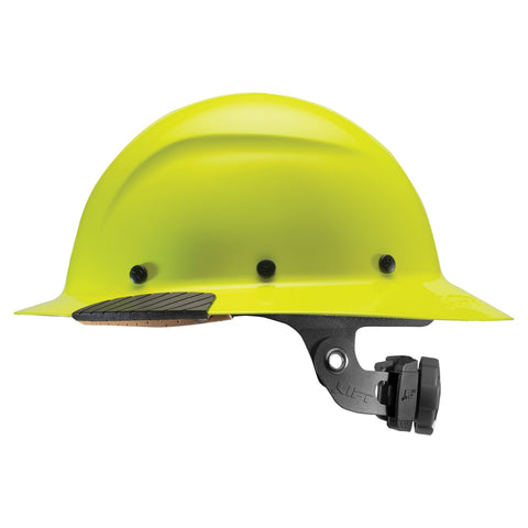 Lift DAX Fiber Resin Full Brim Hard Hat, Hi-Viz (each)