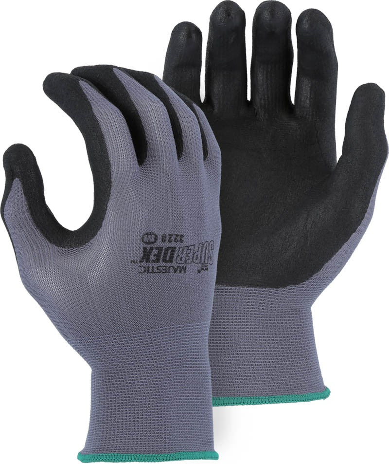 Majestic SuperDex Micro Foam Nitrile Palm Coated Glove on Nylon Shell (dozen)
