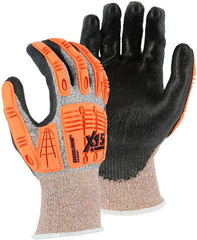Majestic X-15 with Dyneema Cut & Impact Resistant Glove with Polyurethane Coating, Cut A3 (dozen)