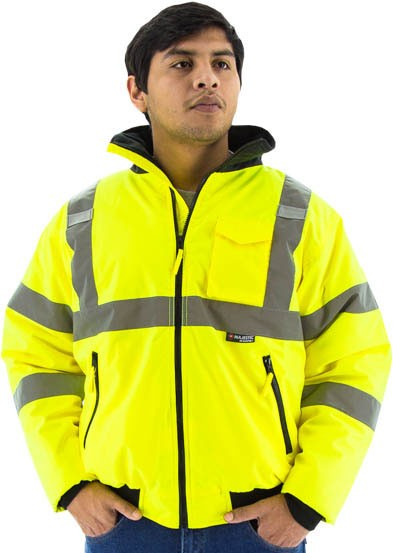 Majestic High Visibility Waterproof Jacket, Quilted Liner, Type R, Class 3 (each)