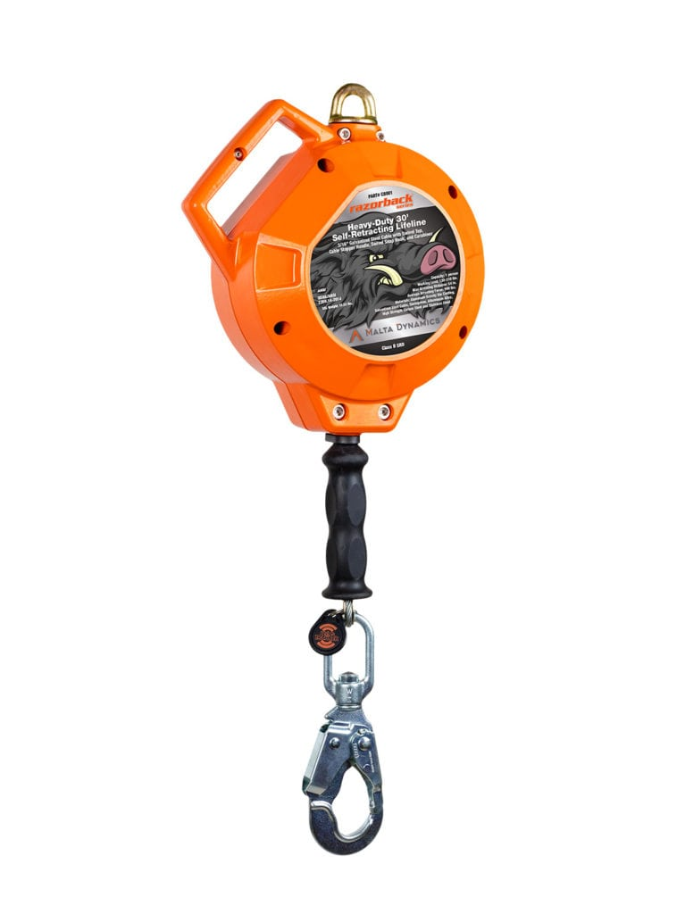 Malta Dynamics Razorback™ Heavy-Duty 30′ Self-Retracting Lifeline (each)