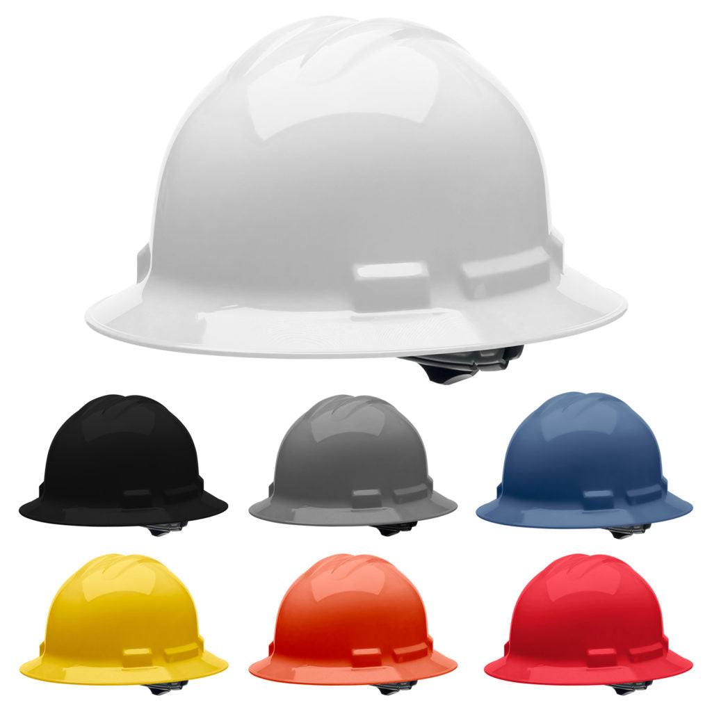 Malta Dynamics Hard Hat, 4 pt. Ratchet Full Brim Style (each)