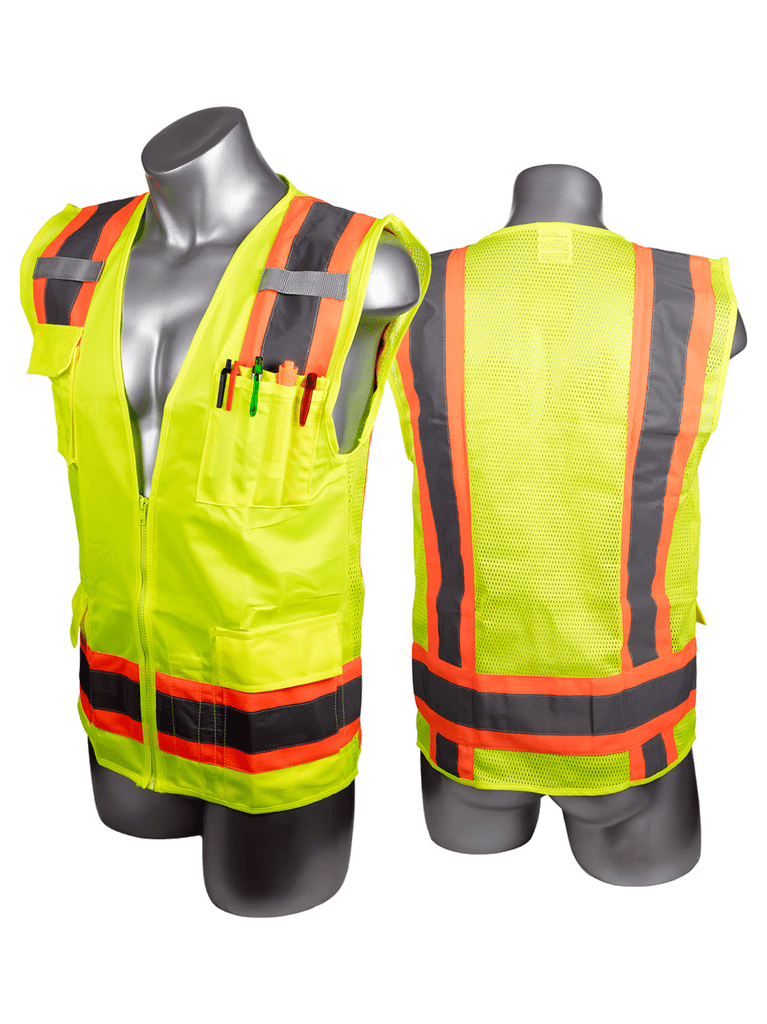 Malta Dynamics High Visibility Yellow Safety Surveyor Vest, Type R Class 2 (each)