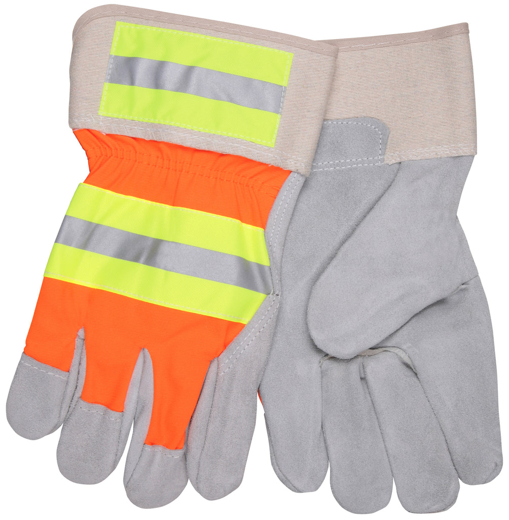 "MCR Safety Luminator™, Orange Hi Vis/Lime/Silver Reflective Stripes, 2.5"" Safety Cuff (dozen)"