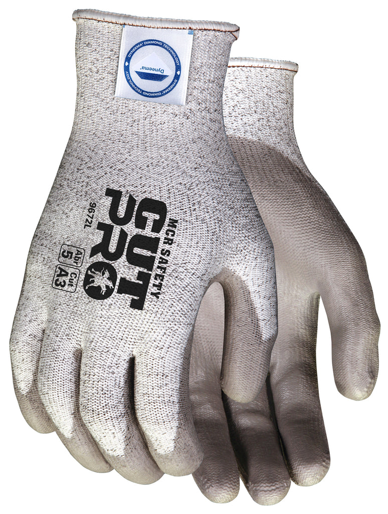 MCR Safety Dyneema Blend Gloves, Salt-and-Pepper/Gray, Cut A3 (dozen)