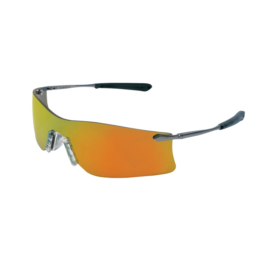MCR Safety Rubicon Protective Eyewear, Fire Lens, Polycarbonate, Scratch-Resistant, Frame (each)