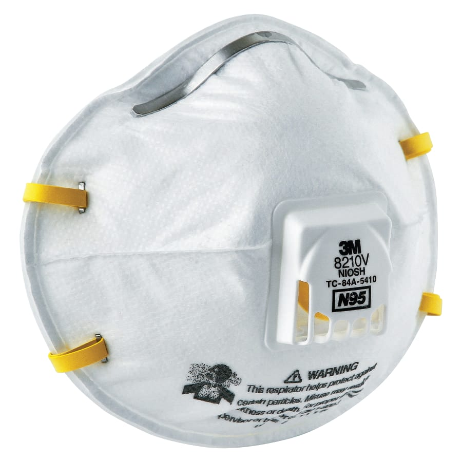 3M N95 Particulate Respirators, Half Facepiece, Non-Oil Filter, One Size (box of 10)