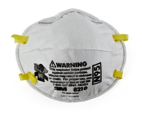 3M Particulate Respirator 8210, N95 (box of 20)