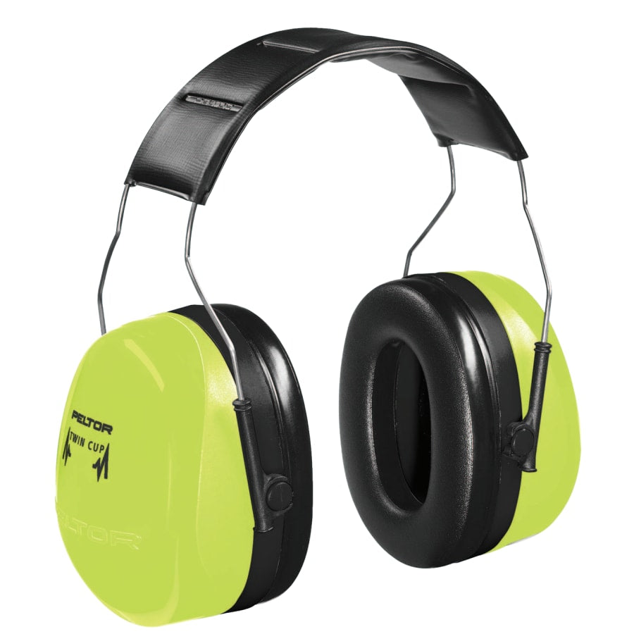 3M Optime 105 Earmuffs, 30 dB NRR, Hi-Viz Green, Over the Head (each)