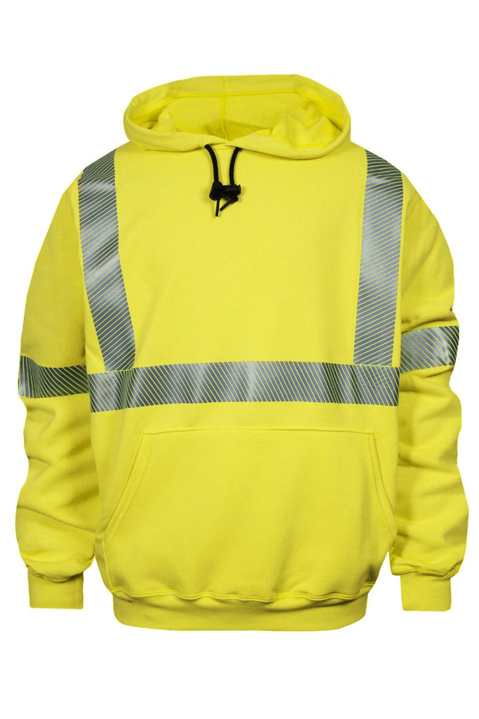 National Safety Apparel Vizable FR Hi-Vis Pullover Sweatshirt, Type R Class 3, 20 cal/cm² (each)