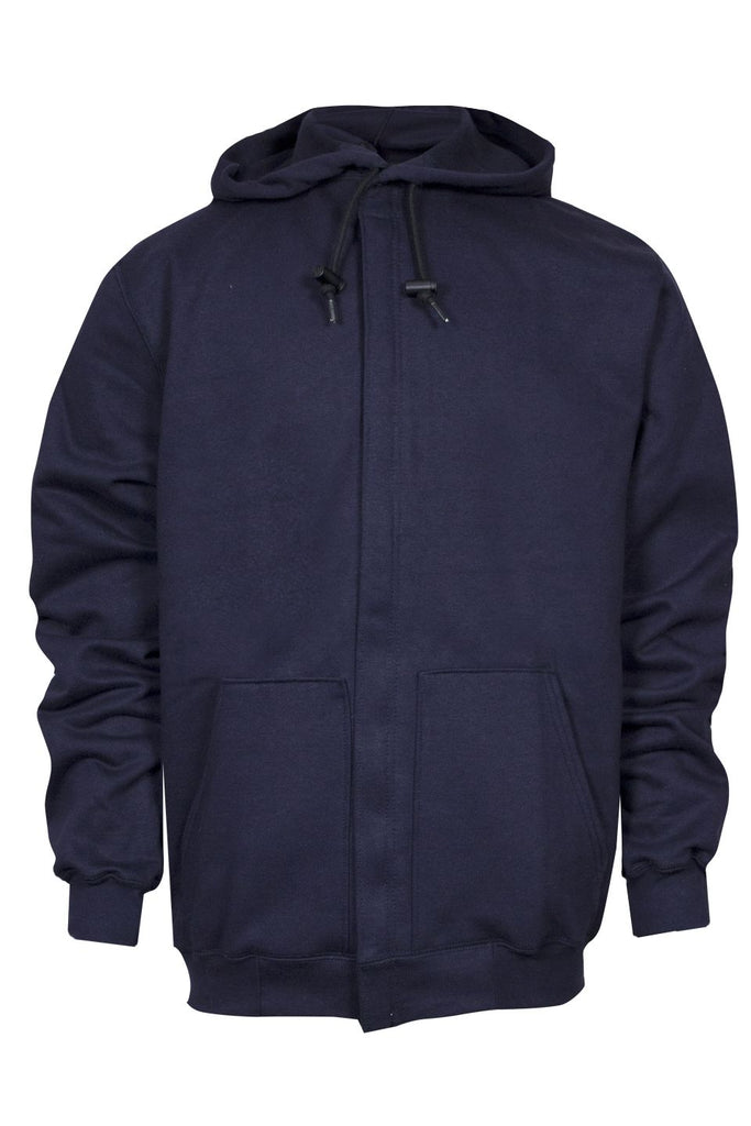 National Safety Apparel Heavyweight Navy Zip Front FR Sweatshirt, 28 cal/cm² (each)