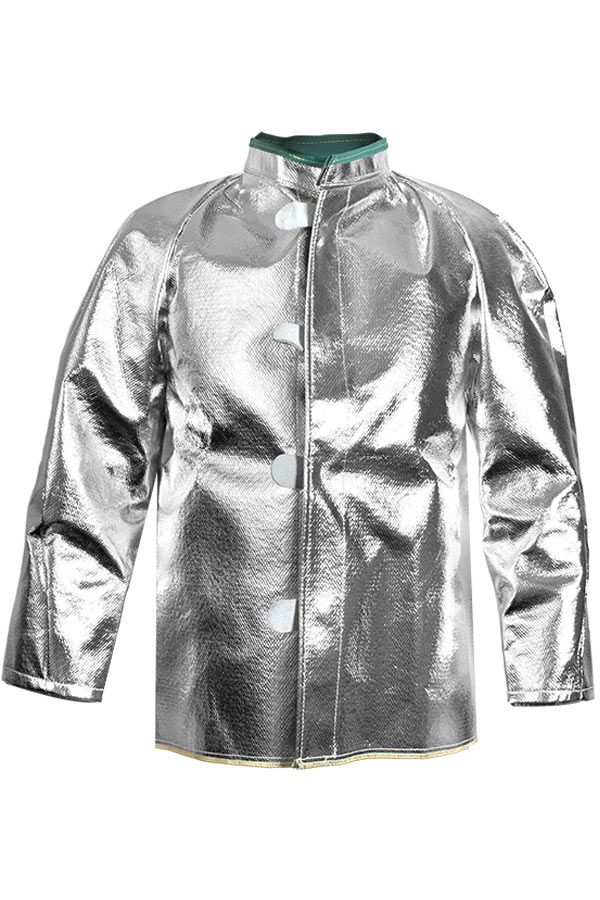 "National Safety Apparel Carbon Armour Silvers NL 30"" Aluminized Coat (each)"