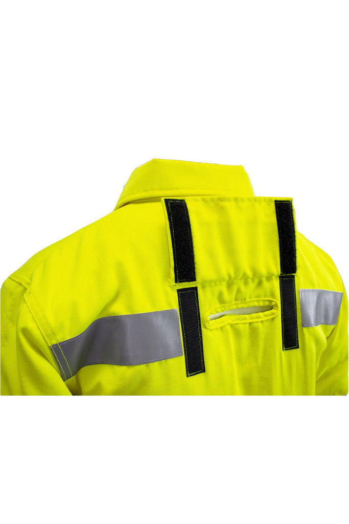 National Safety Apparel Vizable FR Bomber Jacket, Lanyard Access, Type R Class 3, 34 cal/cm² (each)