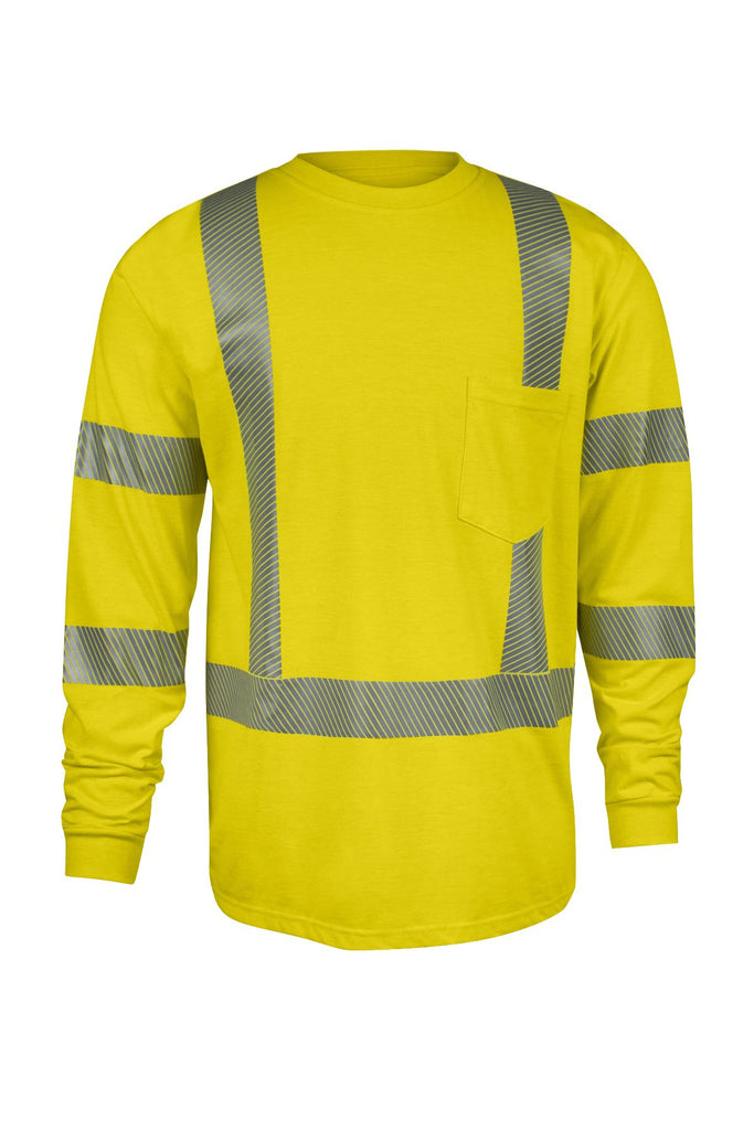 National Safety Apparel Drifire Strongknit FR Hi-Vis Long Sleeve T-Shirt, Type R Class 3, 10 cal/cm² (each)
