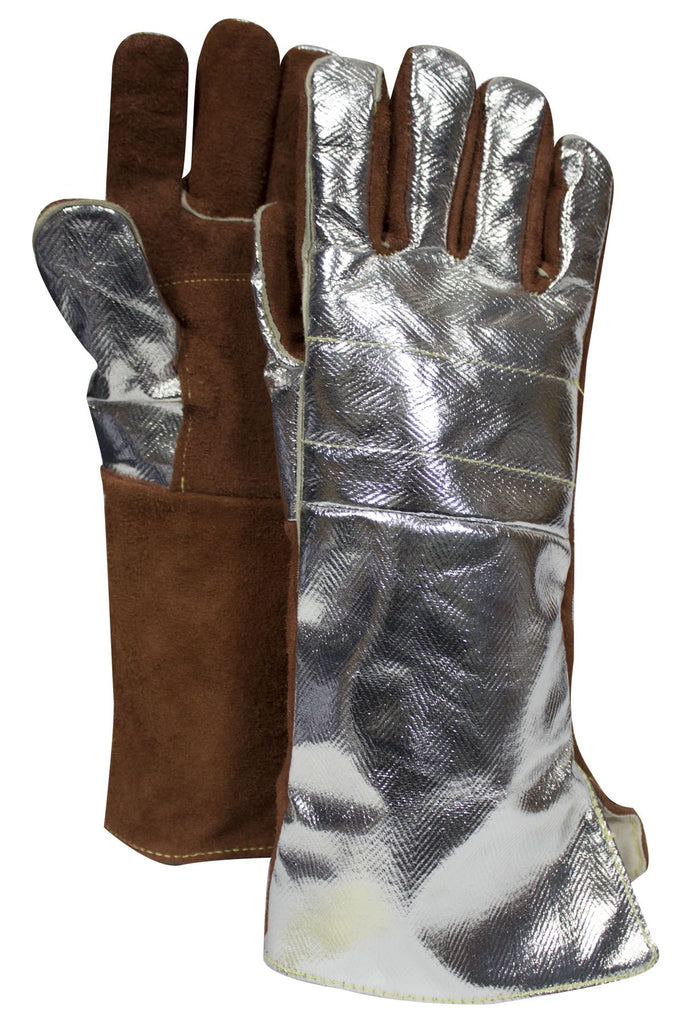 National Safety Apparel Thermal Leather Glove, Snap Adjustment (pair)