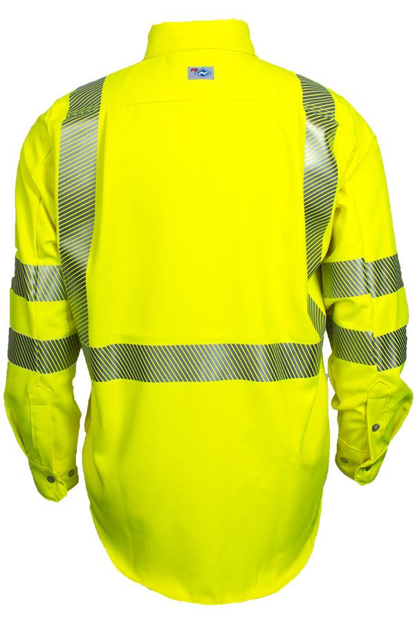 National Safety Apparel Vizable FR Hi-Vis Work Shirt, Type R Class 3, 8.9 cal/cm² (each)
