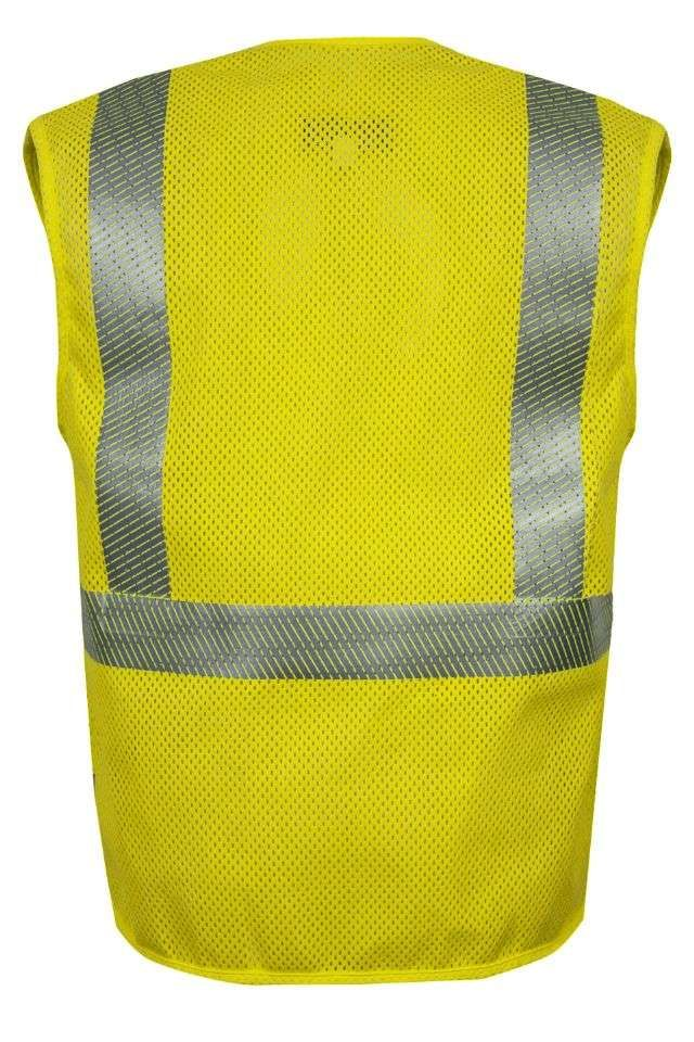 National Safety Apparel Vizable FR Hi-Vis Zip Front Mesh Safety Vest, Type R Class 2, 4.6 cal/cm² (each)