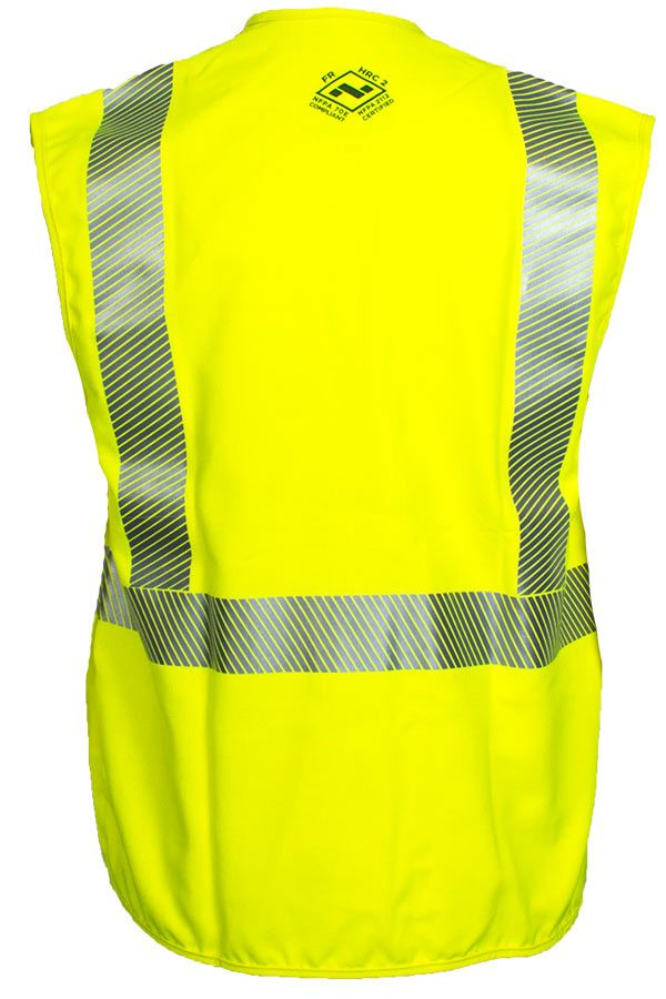 National Safety Apparel Vizable FR Hi-Vis Standard Solid Vest, Type R Class 2, 8.9 cal/cm² (each)