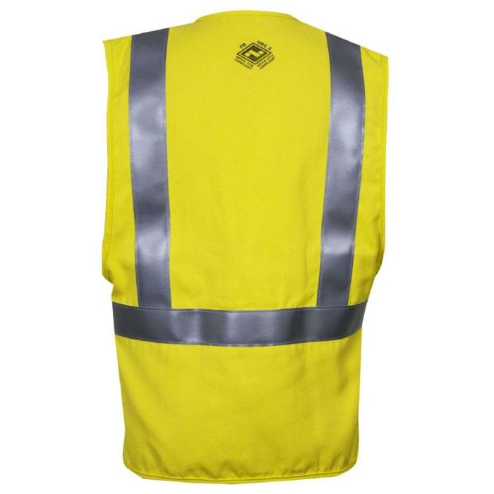 National Safety Apparel Vizable FR Hi-Vis Solid Contractor Safety Vest, Type R Class 2, 8.9 cal/cm² (each)