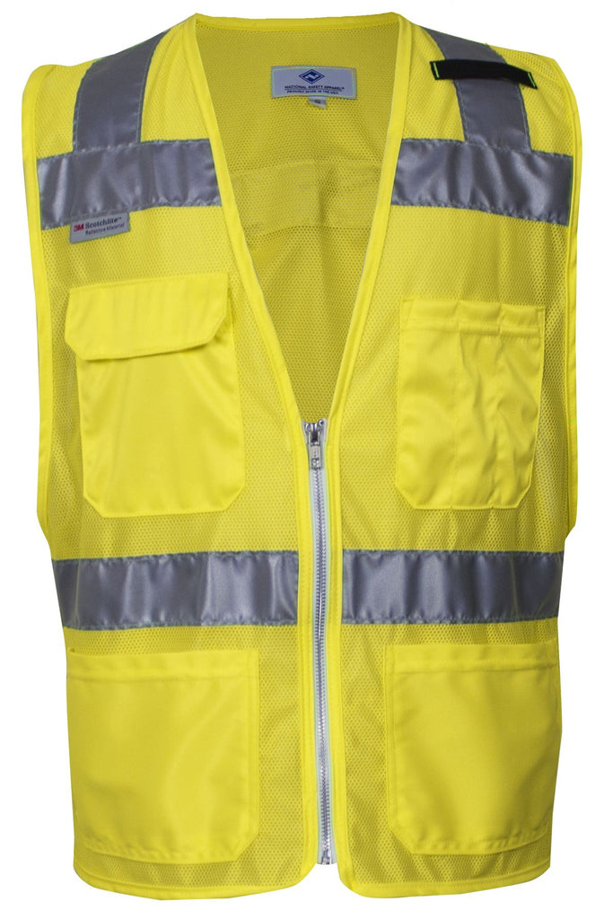 National Safety Apparel Vizable Hi-Vis Deluxe Micro Mesh Vest, Type R Class 2 (each)