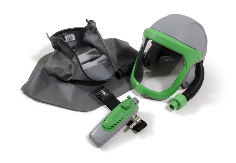RPB Z-Link Respirator, Safety Lens, Zytec FR Shoulder Cape, Breathing Tube, Climate Control (each)