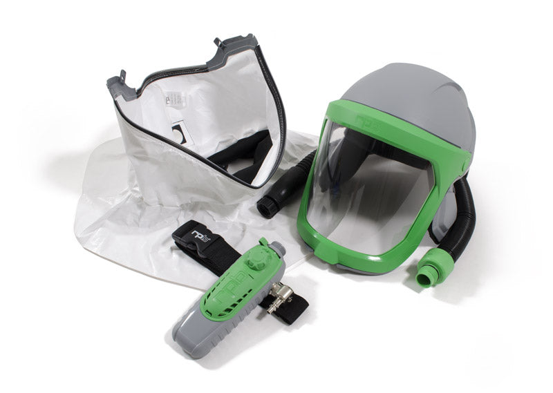 RPB Z-Link Respirator, Safety Lens, Tychem SL Shoulder Cape, Breathing Tube, Climate Control (each)