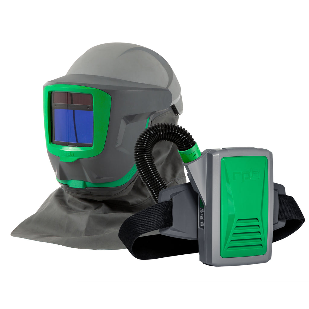 RPB Z-Link + Respirator, Safety Lens, Shoulder Cape Zytec FR, Weld Visor, Breathing Tube, PX5 PAPR, Spark Arrestor (each)