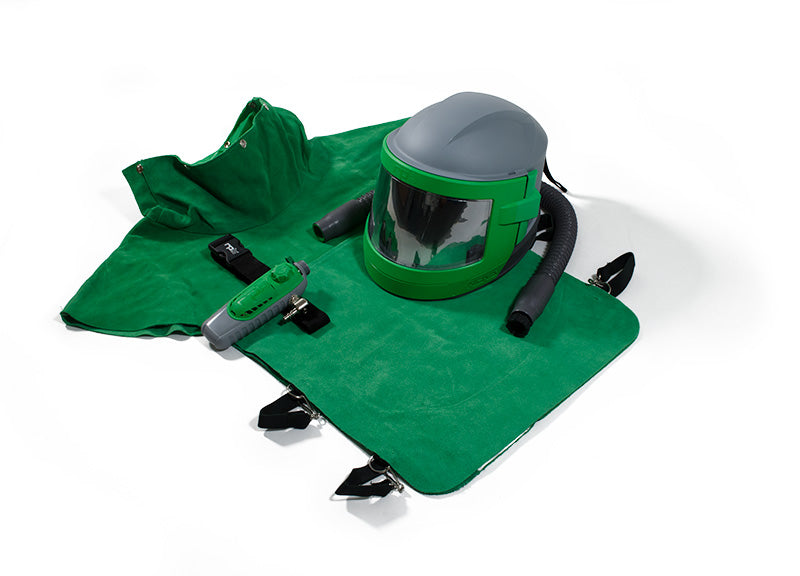 RPB Nova 3 Blast Respirator, XL Leather Cape, Breathing Tube, C40 Climate Control Device (each)