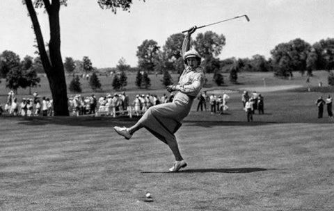 Babe Zaharias golf shot