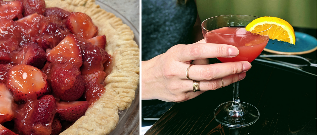 Strawberry Pie and Cocktails