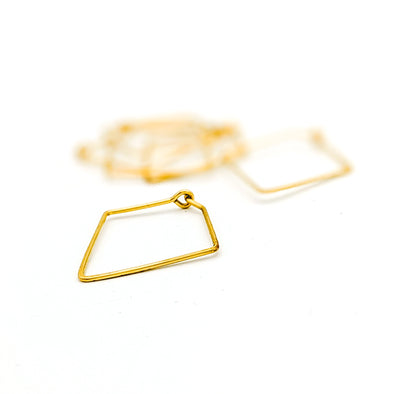 Mini Diamond Hoops in 14k Gold Fill - Minimalist Everyday Lightweight Earrings