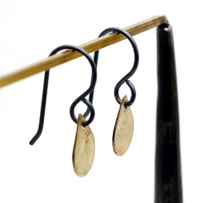 Brass Drops Earrings - Queens Metal