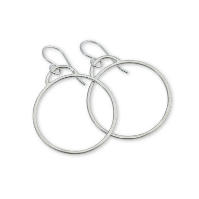 Deco Hoop Earrings - Queens Metal