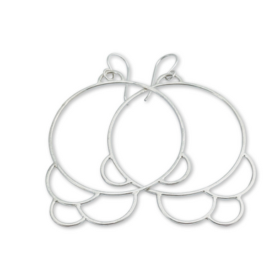 Double Deco Hoop Earrings - Queens Metal