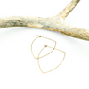 Gold Bow Hoops in 14K Gold Fill - Minimalist Lightweight Earrings