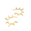 Sunburst Hoop Earrings in 14K Gold Vermeil - Queens Metal