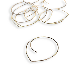 Swirl Hoops in Gold - Queens Metal