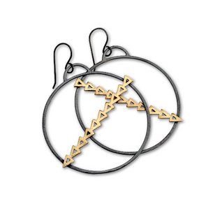 Warrior Hoop Earrings - Queens Metal