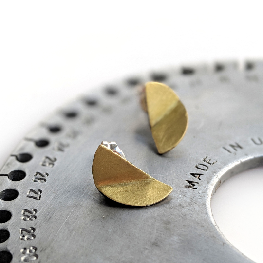 Half Moon Brass Studs - Queens Metal