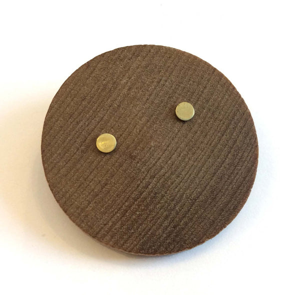 Tiny Round Studs in Brass - Queens Metal