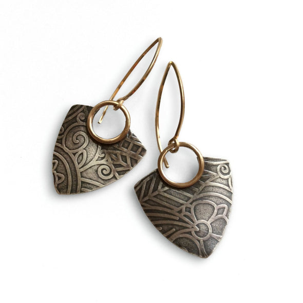 Della Earrings in Sterling Silver with 14K Gold Fill - Queens Metal