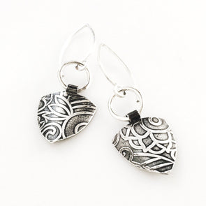 Riley Industrial Earrings in Sterling Silver - Queens Metal